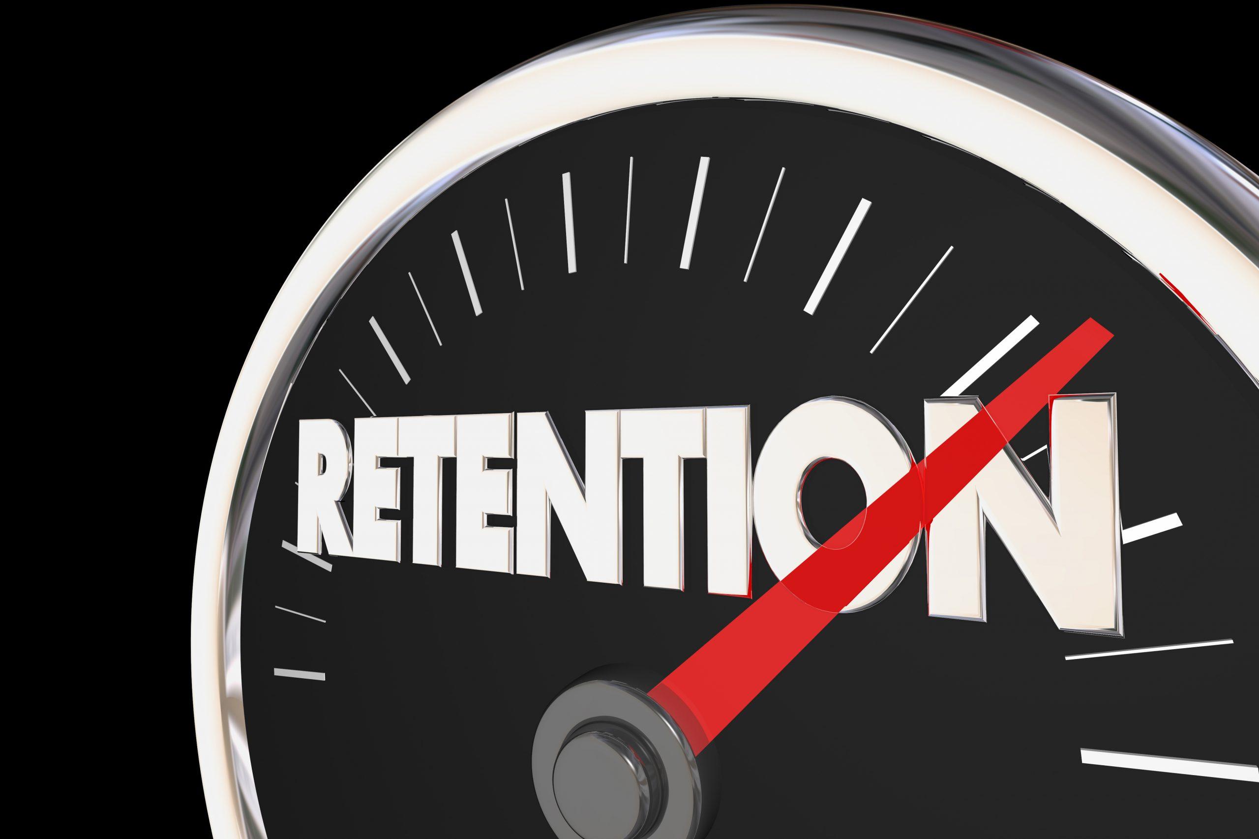 Retention Level Rising Improvement Speedometer 3d Illustration